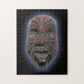 Maori Carved Mask Jigsaw Puzzle