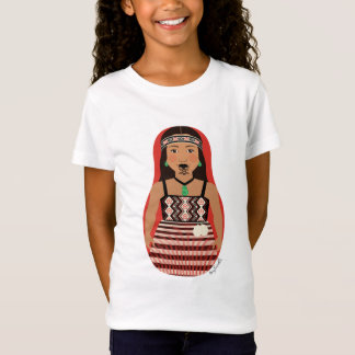 Maori Dancer Matryoshka Girls Baby Doll (Fitted) T-Shirt