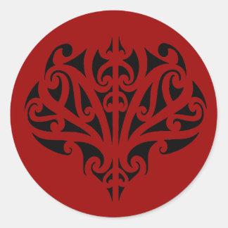 Maori design round sticker
