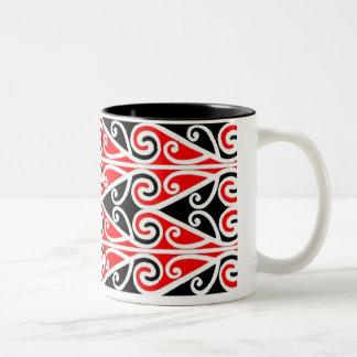 maori designs tribal art for you Two-Tone coffee mug