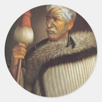 Maori Gentleman Round Sticker