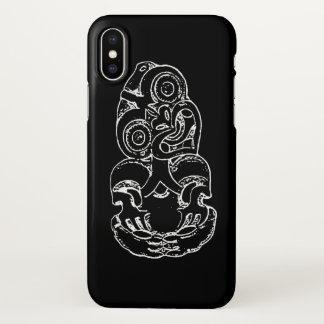 Maori Hei-Tiki Sketch iPhone X Case