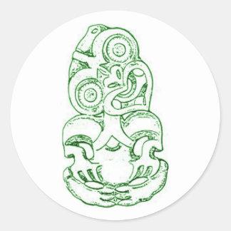 Maori Hei-Tiki Sketch Sticker