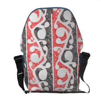 Maori Kowhaiwhai Distressed Pattern Messenger Bag