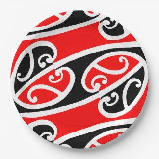 Maori Kowhaiwhai Pattern 2 9 Inch Paper Plate