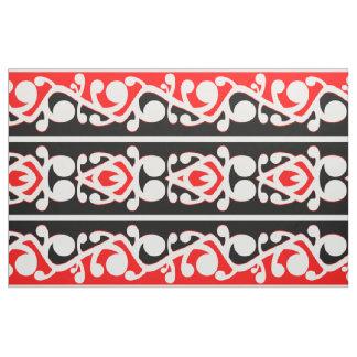 Maori Kowhaiwhai Traditional Pattern Fabric