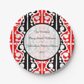 Maori Kowhaiwhai Wedding Keepsake 7 Inch Paper Plate