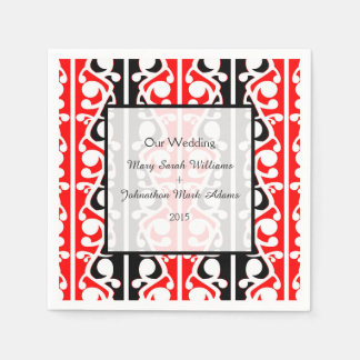 Maori Kowhaiwhai Wedding Keepsake Disposable Napkins