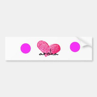 Maori Language of Love Design Bumper Sticker