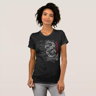 Maori manaia - Guardian (red writing) T-Shirt