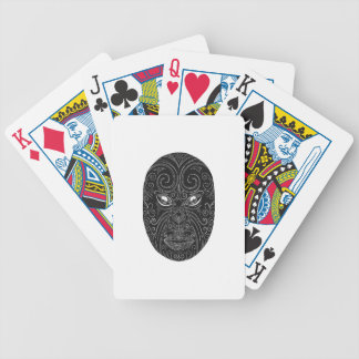 Maori Mask Scratchboard Bicycle Playing Cards