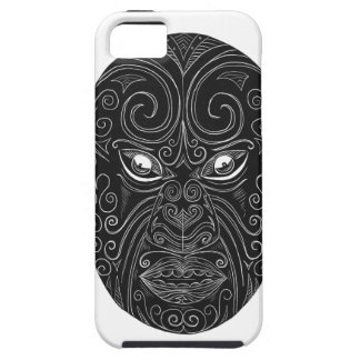 Maori Mask Scratchboard Case For The iPhone 5