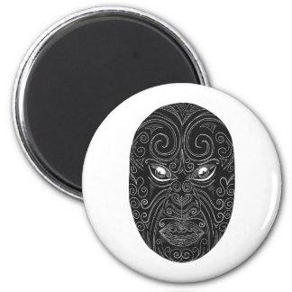 Maori Mask Scratchboard Magnet