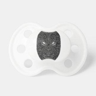 Maori Mask Scratchboard Pacifier