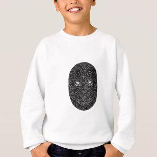 Maori Mask Scratchboard Sweatshirt
