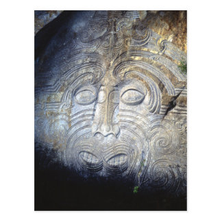 Maori Rock Carvings at Lake Taupo Postcard