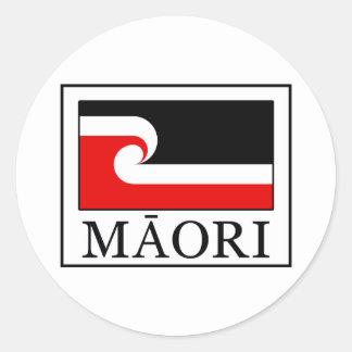 Maori Round Sticker