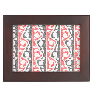 Maori Tribal Distressed Pattern Keepsake Box