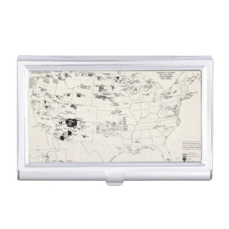 MAP: AMERICAN INDIANS 2 BUSINESS CARD CASE