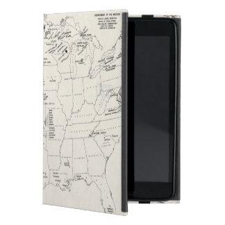 MAP: AMERICAN INDIANS 2 iPad MINI COVER