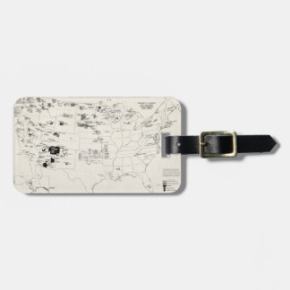 MAP: AMERICAN INDIANS 2 LUGGAGE TAG