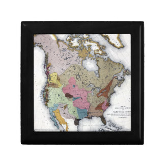 MAP: AMERICAN INDIANS 3 JEWELRY BOXES