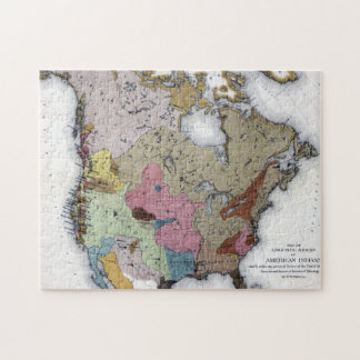 MAP: AMERICAN INDIANS 3 JIGSAW PUZZLE