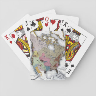 MAP: AMERICAN INDIANS 3 PLAYING CARDS