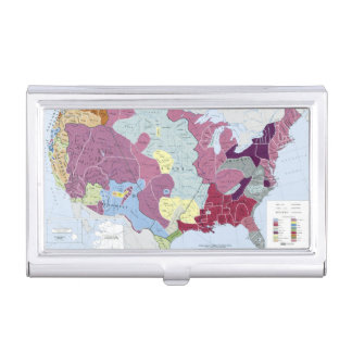 MAP: AMERICAN INDIANS BUSINESS CARD CASES