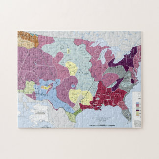 MAP: AMERICAN INDIANS JIGSAW PUZZLE
