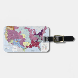 MAP: AMERICAN INDIANS LUGGAGE TAG