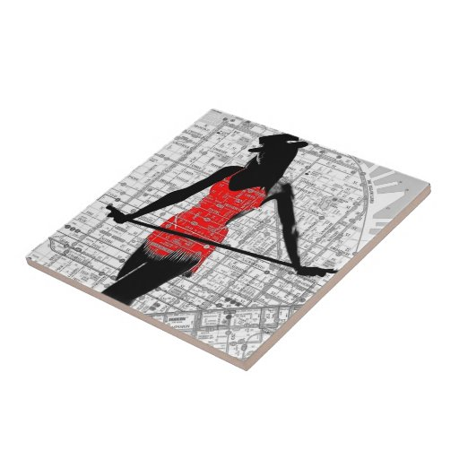 Map and Dance Ceramic Tiles