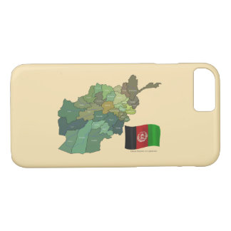 Map and Flag of Afghanistan iPhone 7 Case
