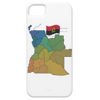 Map and Flag of Angola iPhone 5 Covers
