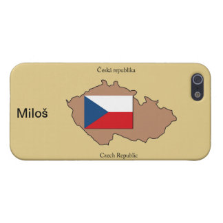 Map and Flag of Czech Republic Case For The iPhone 5