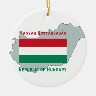 Map and Flag of Hungary Ornament