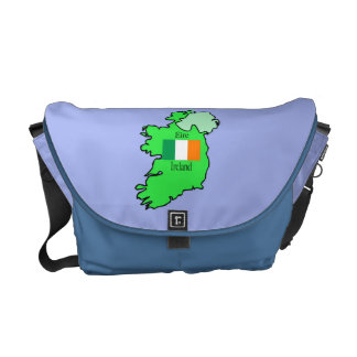 Map and Flag of Ireland Courier Bag