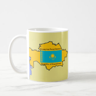 Map and Flag of Kazakhstan Coffee Mug