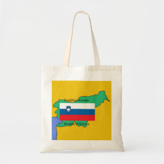 Map and Flag of Slovenia Tote Bag