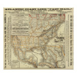 Map Atlantic Coast Line Poster