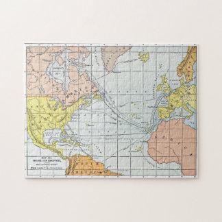 MAP: ATLANTIC VOYAGES PUZZLE