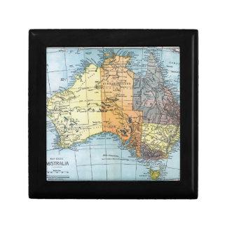 MAP: AUSTRALIA, c1890 Keepsake Box