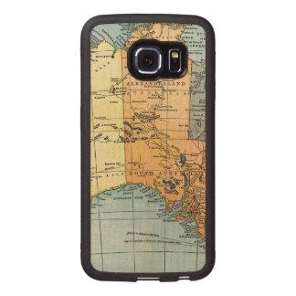 MAP: AUSTRALIA, c1890 Wood Phone Case