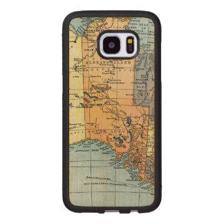 MAP: AUSTRALIA, c1890 Wood Samsung Galaxy S7 Edge Case