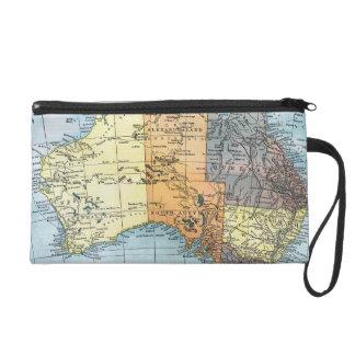MAP: AUSTRALIA, c1890 Wristlets