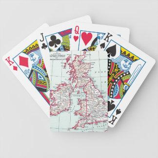 MAP: BRITISH ISLES, c1890 Bicycle Playing Cards