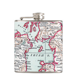 MAP: BRITISH ISLES, c1890 Hip Flask