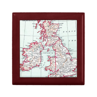 MAP: BRITISH ISLES, c1890 Keepsake Box