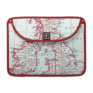 MAP: BRITISH ISLES, c1890 MacBook Pro Sleeves