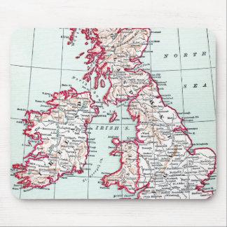 MAP: BRITISH ISLES, c1890 Mouse Pad
